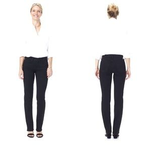 NYDJ Marilyn Straight Leg Black Denim Jeans